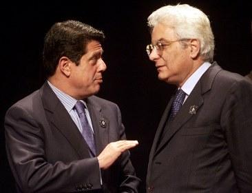 Серджио Маттарелла (справа)